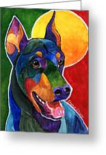 Party Doby,doberman Pinscher  Greeting Card