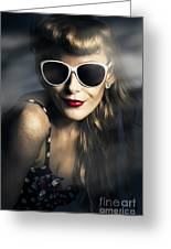 Party Fashion Pin Up Greeting Card