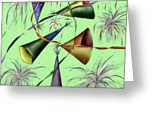Party Hat Abstract  Greeting Card