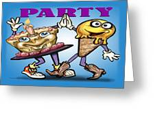 Party Greeting Card by Kevin Middleton
