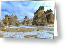 Pasabag Monks Valley In Cappadocia, Turkey Greeting Card