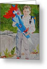 Pascals First Day At School 2004 Greeting Card