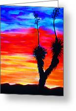 Paso Del Norte Sunset 1 Greeting Card