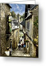 Passage To The Port Of St Goustan Greeting Card