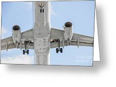 Passenger Jet Coming In For Landing 1  Greeting Card
