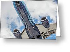 Passenger Jet Coming In For Landing 3 Greeting Card