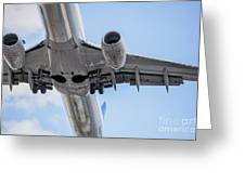 Passenger Jet Coming In For Landing 7 Greeting Card