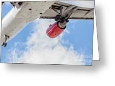 Passenger Jet Coming In For Landing 9 Greeting Card