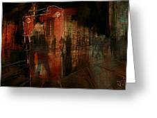 Passers In The Night Greeting Card