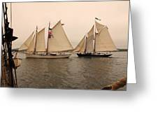 Passing Astern Greeting Card