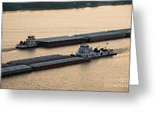 Passing Barges Greeting Card