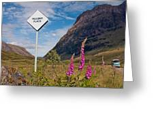 Passing Place Greeting Card
