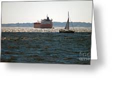 Passing Ships Greeting Card
