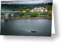 Passing Storm In Chattanooga Greeting Card