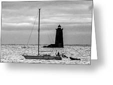 Passing Whaleback Light In The Early Morning Greeting Card