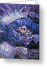 Passion In Blue Greeting Card
