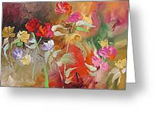 Passion In The Garden Greeting Card