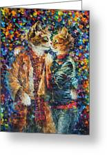 Passion Of The Cats  Greeting Card