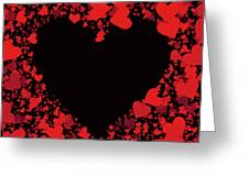 Passionate Love Heart Greeting Card