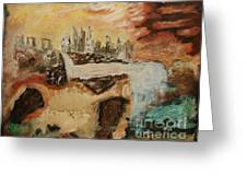 Past Life - Contemporary Modern Abstract Art Painting  Greeting Card
