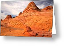 Pastel Checkerboad Landscape Greeting Card