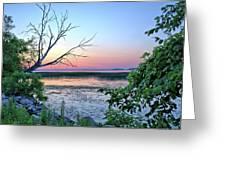 Pastel Clear Lake 3 Greeting Card