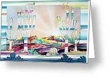 Pastel Desert Landscape Greeting Card
