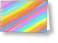 Pastel Diagonals Greeting Card