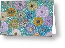 Pastel Floral Garden Greeting Card