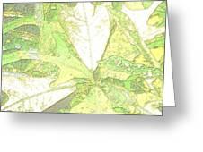 Pastel Green Nature Greeting Card