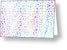 Pastel Hearts Greeting Card