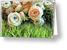 Pastel Roses Greeting Card