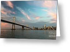 Pastel San Francisco Sunrise Greeting Card