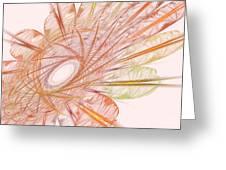 Pastel Spiral Flower Greeting Card