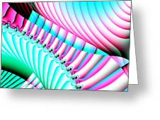 Pastel Spiral Staircase Fractal Greeting Card