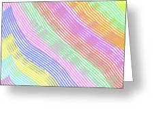 Pastel Stripes Angled Greeting Card
