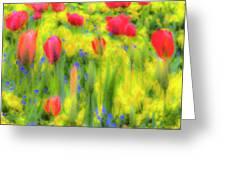 Pastel Summer Flowers  Greeting Card