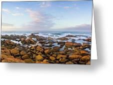 Pastel Tone Seaside Sunrise Greeting Card