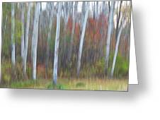 Pastel Tree Abstract Greeting Card