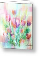 Pastel Tulips Collage Greeting Card