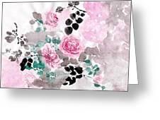 Pastel Water-healing Roses -24 Greeting Card