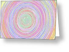 Pastel Whirlpool Greeting Card