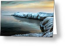 Pastels And Ice Greeting Card