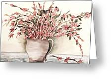 Pastels In Clay Pot Greeting Card