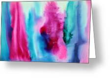 Pastels Waterslide Greeting Card