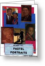 Pastels,oil,portraits Greeting Card