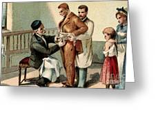 Pasteur Inoculating Man With Rabies Greeting Card
