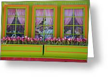 Pastle Windows Greeting Card