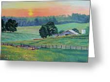 Pastoral Sunset Greeting Card