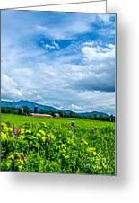 Pastoral Vermont Farmland Greeting Card